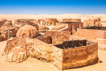 Printed roller blinds Ruins Buildings in Ong Jemel, Tunisia. Ong Jemel is a place near Tozeur, where the movies Star wars