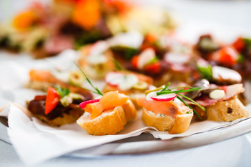 Catering snacks, appetizers or finger food