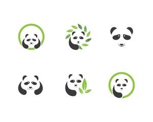 panda ilustration logo vector