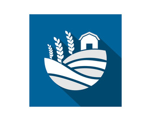barn house field harvest agriculture image vector icon logo symbol