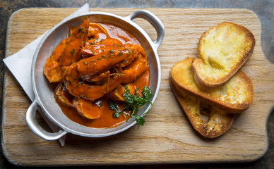 Cajun Prawns with Garlic Toast