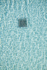 swimming pool water texture with outlet