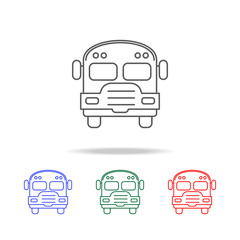 school bus icon. Elements of education multi colored icons. Premium quality graphic design icon. Simple icon for websites, web design, mobile app, info graphics