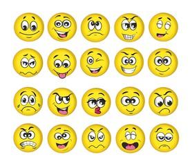 emotion set, emoji set, vector illustration