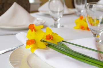 Brunch Table with Flowers