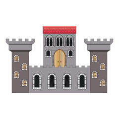 medieval castle isolated icon