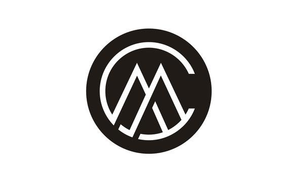 CM MC Letters Monogram Initials logo design inspiration