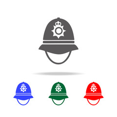 police cap in England icon. Elements of United Kingdom multi colored icons. Premium quality graphic design icon. Simple icon for websites, web design, mobile app, info graphics
