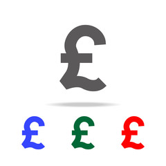 pound symbol icon. Elements of United Kingdom multi colored icons. Premium quality graphic design icon. Simple icon for websites, web design, mobile app, info graphics