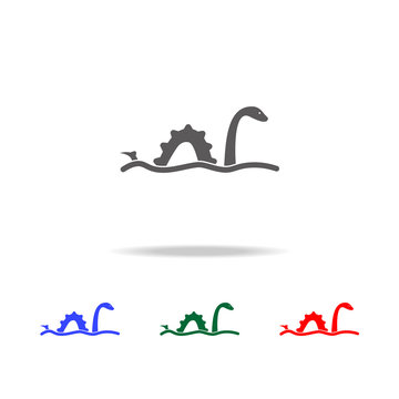 Loch Ness monster icon. Elements of United Kingdom multi colored icons. Premium quality graphic design icon. Simple icon for websites, web design, mobile app, info graphics