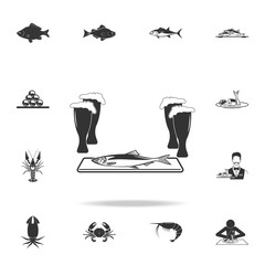 herring to beer icon. Detailed set of fish illustrations. Premium quality graphic design icon. One of the collection icons for websites, web design, mobile app