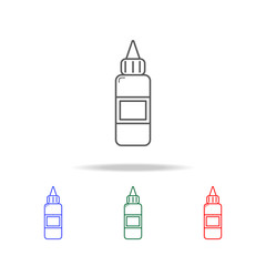 Sauce bottle icon. Elements of fast food multi colored line icons. Premium quality graphic design icon. Simple icon for websites, web design, mobile app, info graphics