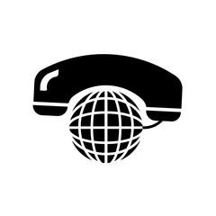 International calling service symbol icon isolated on white background