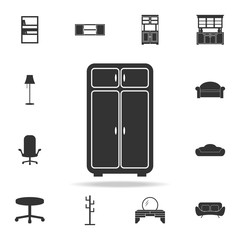 cupboard icon. Detailed set of furniture icons. Premium quality graphic design. One of the collection icons for websites; web design; mobile app