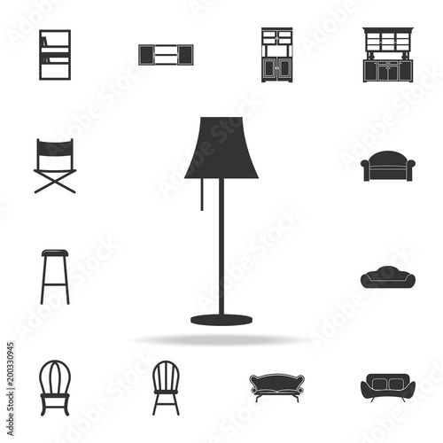 Floor Lamp Icon. Detailed Set Of Furniture Icons. Premium Quality Graphic  Design. One Of The Collection Icons For Websites; Web Design; Mobile App