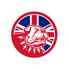 British Bulldog Head Union Jack Flag Icon