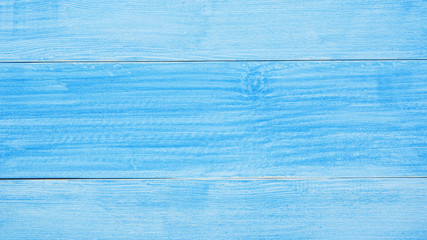 Close up of blue wooden for a background.