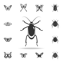 beetle. Detailed set of insects items icons. Premium quality graphic design. One of the collection icons for websites, web design, mobile app