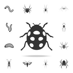 ladybug. Detailed set of insects items icons. Premium quality graphic design. One of the collection icons for websites, web design, mobile app