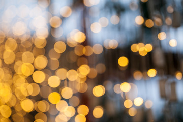 Beautiful yellow bokeh background