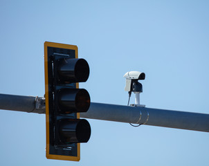 security traffic cameras are watching the streets and roadways