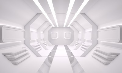 Sci fi space clean background 3D rendering