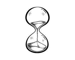 Hourglass hand drawn style illustrations