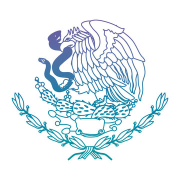 emblem of the mexican flag