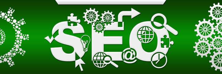 SEO - Search Engine Optimization Green Both Side Gears
