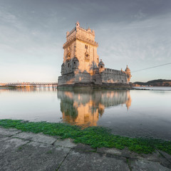 f70eafbe8c Belem Tower on the Tagus River in sunset. Lisbon