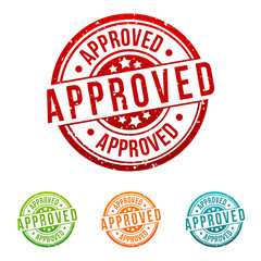 Approved Stamp -  Badges in different colours.
