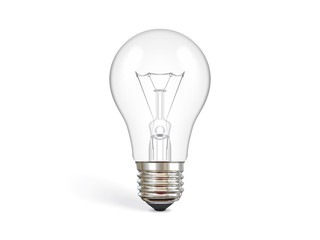 transparent incandescent bulb mock up