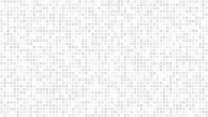 Abstract light background of small squares or pixels in white and gray colors. Wall mural