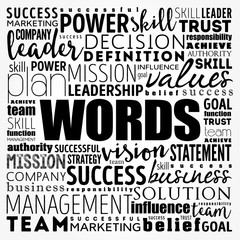 WORDS word cloud collage, business concept background