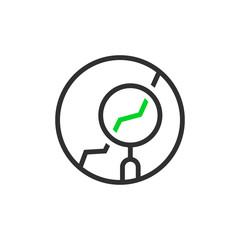 thin line round simple analytics logo