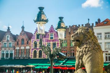 Fototapeten Antwerpen Grote Markt or Market square landmark