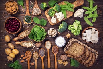 Vegan protein sources. Wall mural