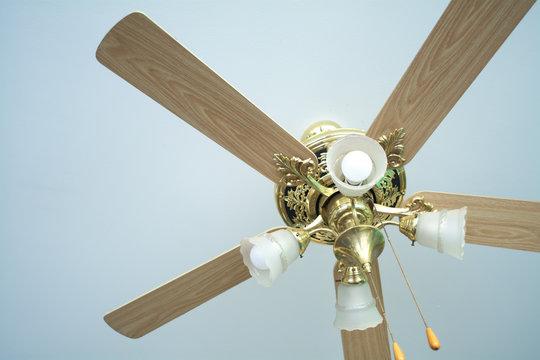 vintage wood ceiling fan interior