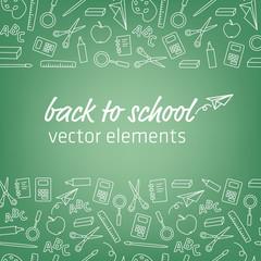 back to school. modern design.