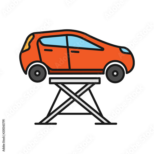 Car Lift Color Icon