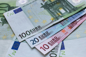 Euro banknotes as a background. Euro money