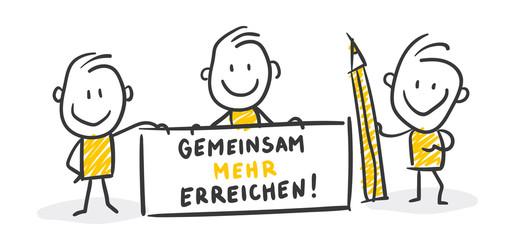 Strichfiguren / Strichmännchen: Gemeinsam mehr erreichen. (Nr. 218)