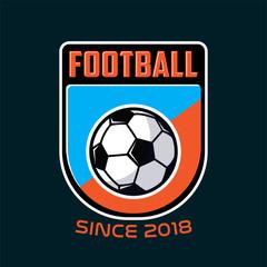football soccer, logo badges emblem soccer champions