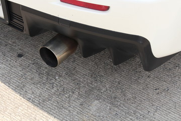 Car's exhaust pipe detail