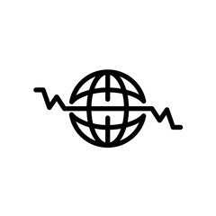 Global Heart Beat icon isolated on white background