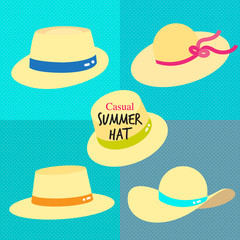 CASUAL SUMMER HAT style to shade the face and shoulder from sun from summer time!