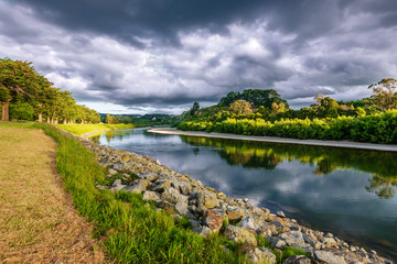 Photo sur Aluminium Riviere On the banks of the river Manawatu