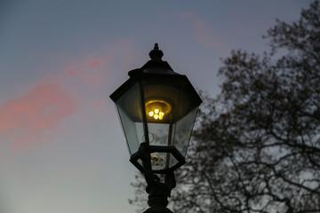 Street light / Vintage street lamp close-up / Details