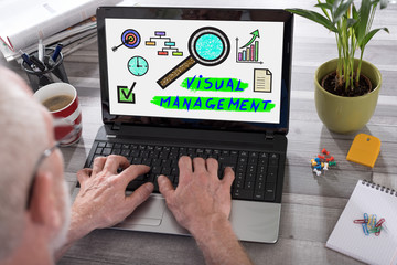 Visual management concept on a laptop screen