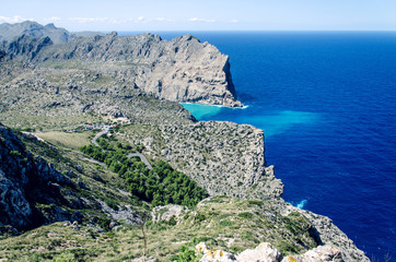 Cliffs at Cap Formentor in Majorca, Spain, Europe, a popular holiday destination